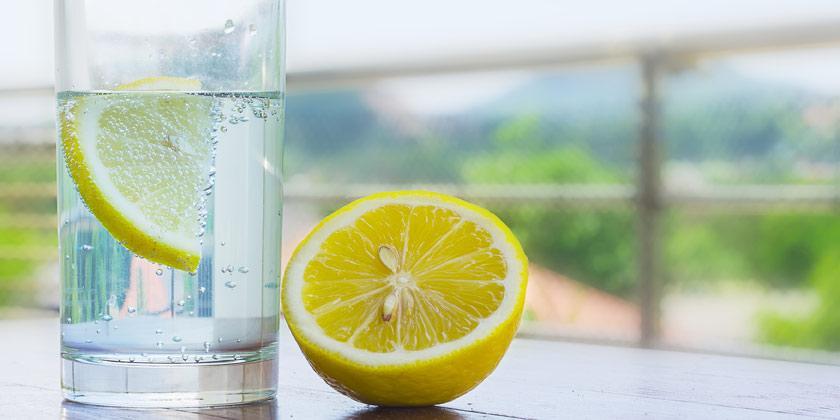 El limón y el agua osmotizada